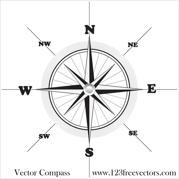 vector compass free on behance