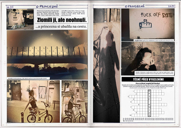 comics,contemporary fairy tale,Propaganda,Media Manipulation,social document,collage,Princess,price,economics,crissis,problems