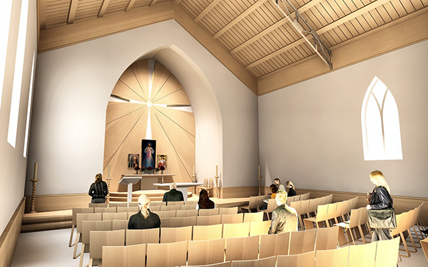 Here Is A Sketch Offer For A Catholic Church Interior Design. The Main Idea  Is Simplicity Of The Premises And Spreading Light From Divine Love Of Jesus  The ...