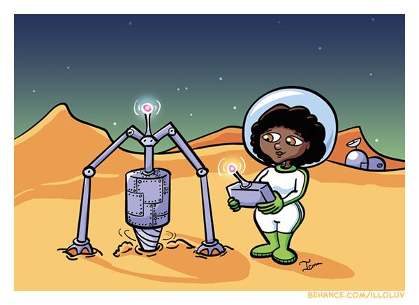 Space ,alien,science,geology,Geologist,Scientist,girl,woman,female