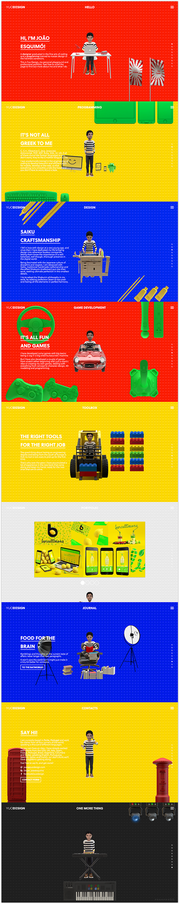 Website Character colorfull