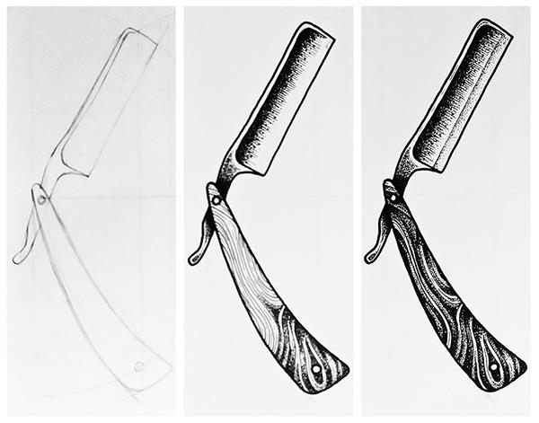 tattoo design razor on pantone canvas gallery. Black Bedroom Furniture Sets. Home Design Ideas