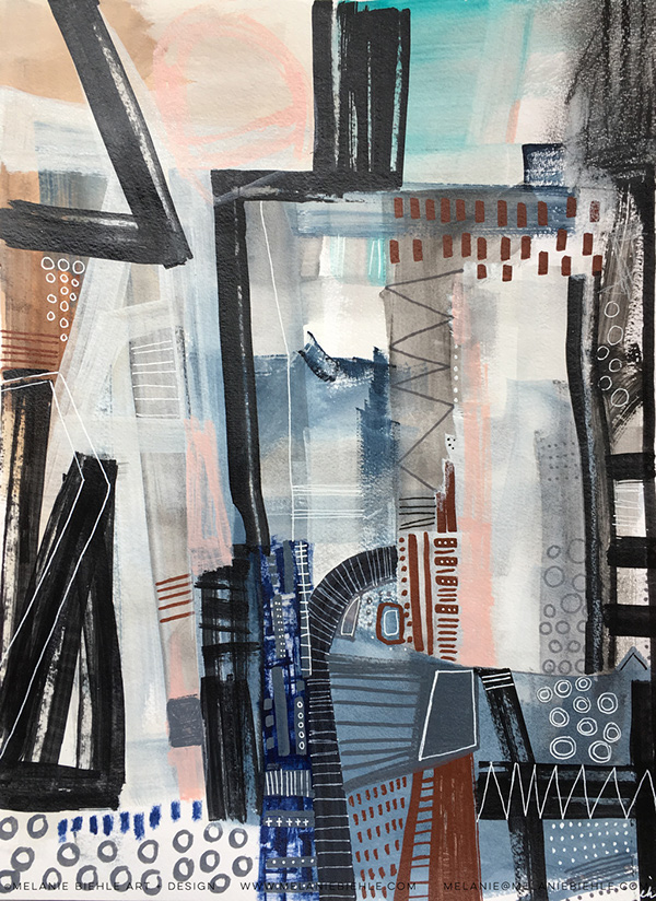 Architectural Abstract Painting Series 2016 2017 On Aiga