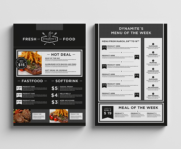 Food  Restaurant Menu Design On Behance