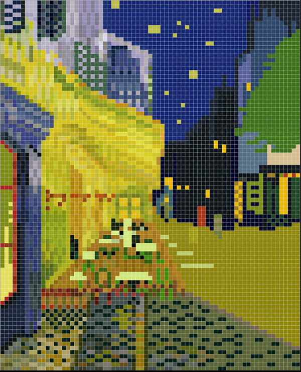 Pixel art the compilation of masterpiece series 2 on for Chambre a arles