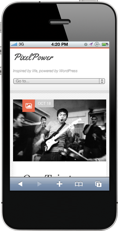 PixelPower Responsive HTML5 / CSS3 WordPress Theme