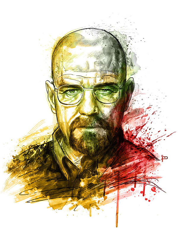 breaking bad fanart on behance