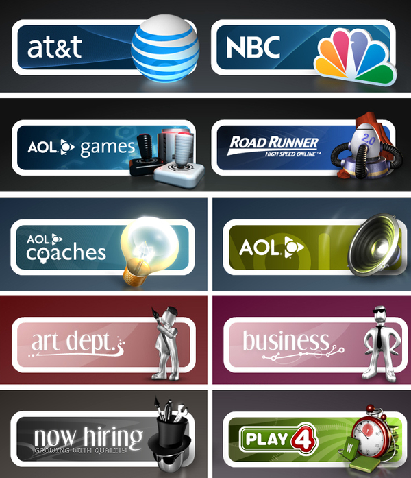 icons avatars GUI information graphics sas airlines life sudoku fi AoL nbc AT&T road runner