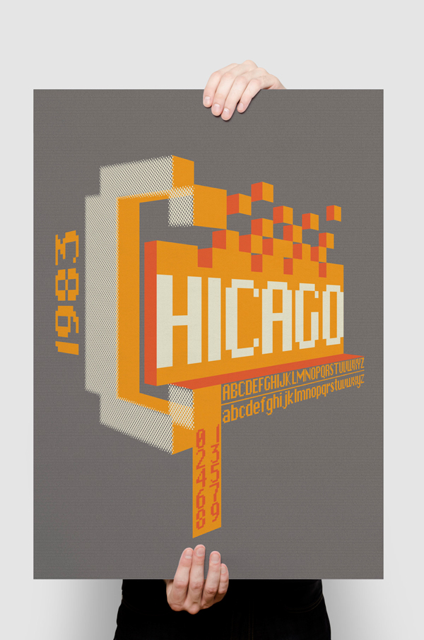c6d4a91c Chicago Typography Poster on Behance