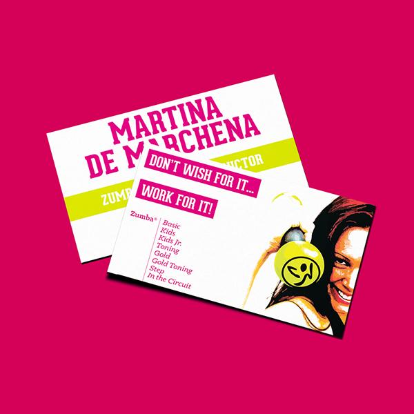 Martina zumba card on behance design for my wifes zumba business card reheart Choice Image