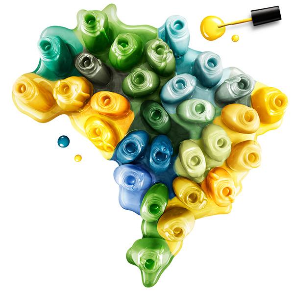 Brazil Map And Heart D Illustration For LOréal On Behance - Brazil map illustration