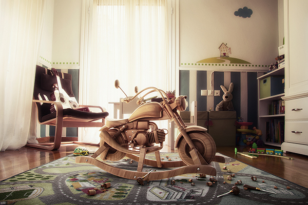 wooden bike on behance. Black Bedroom Furniture Sets. Home Design Ideas