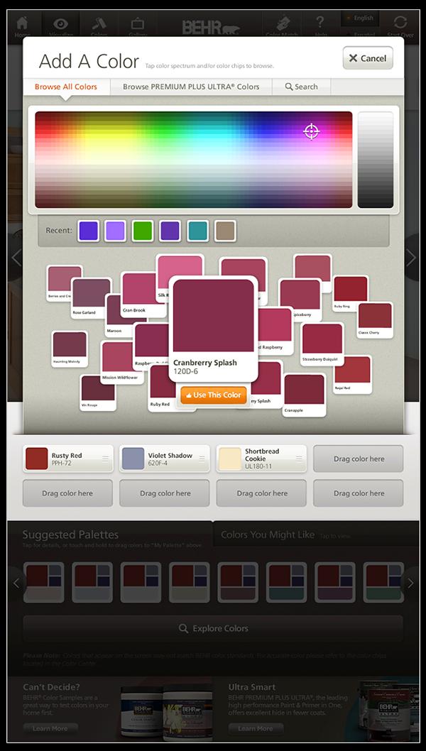 Behr Colorsmart Visualizer On Behance