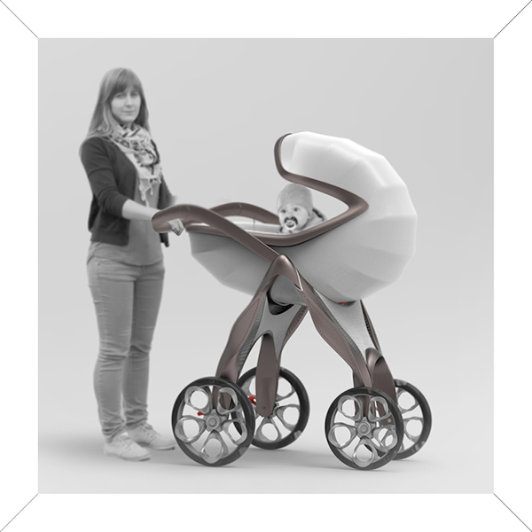 abeo pram concept for mercedes benz style on industrial