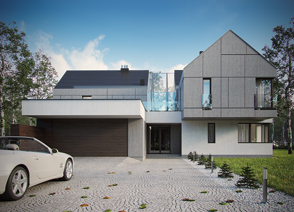 Modern single family house on behance for Modern single family homes