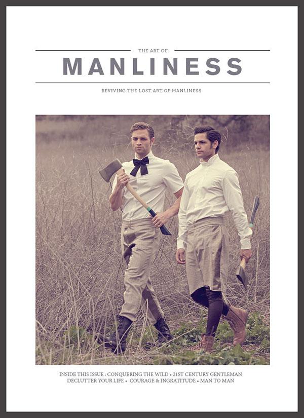 art of manliness magazine on behance