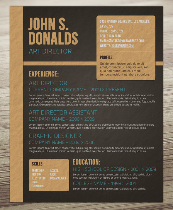 Craft Paper Resume Design On Behance