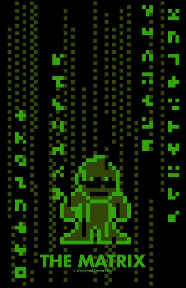 video game 8-bit movie poster vendetta kill bill jurassic Park harry potter matrix willy wonka t-rex Directors Office Space  titanic dark knight iron man