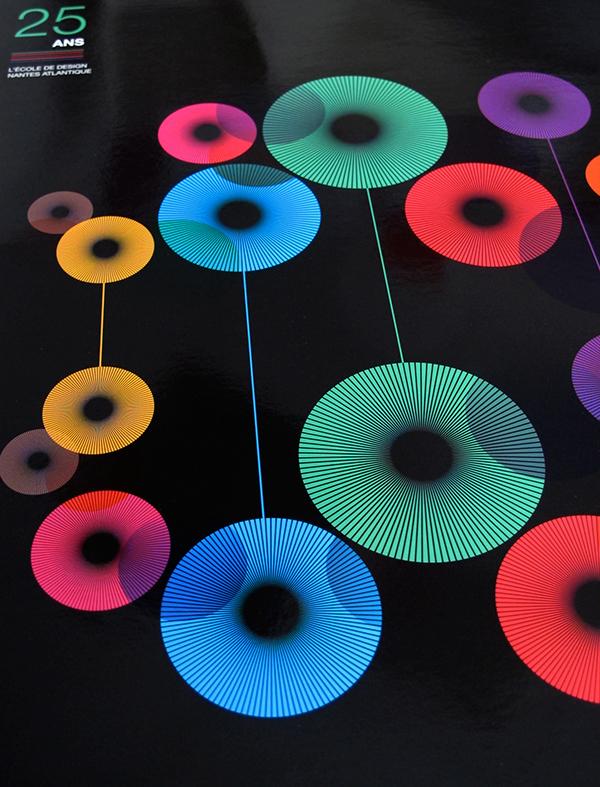 Invitation rond lumières géométrique couleurs colors