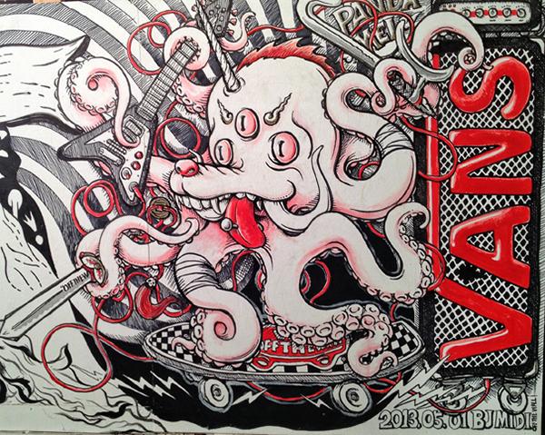 Graffiti Vans Logo Vans x Midi 2013 Graffiti Wall