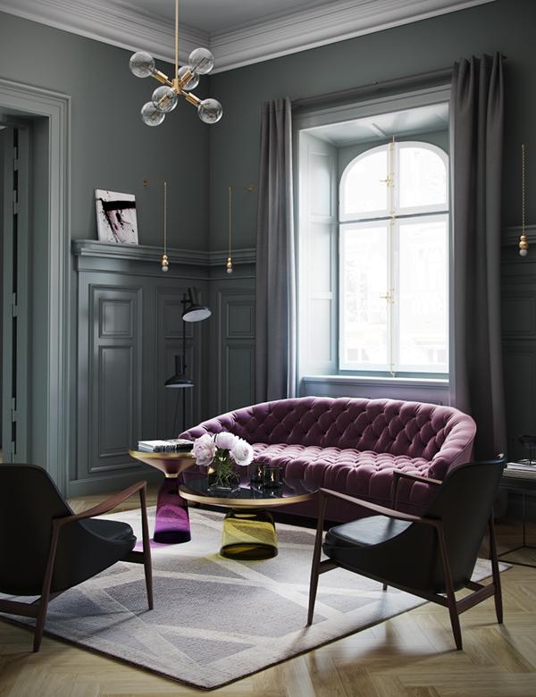Classic interior on behance - Classic home interior ...