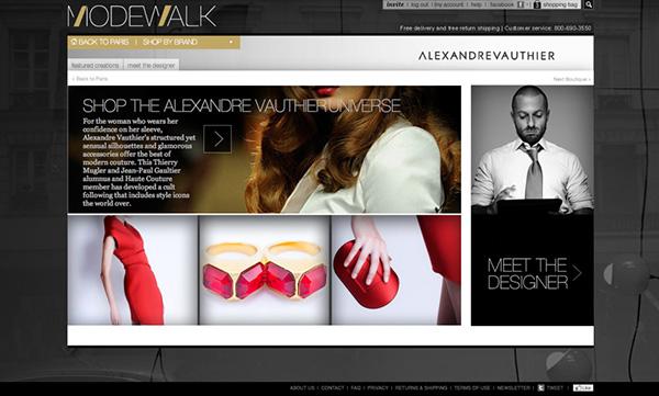 ModeWalk paris fashion user interface Ecommerce online retail user experience editorial design Paris clothes Web store E COMMERCE boutique women