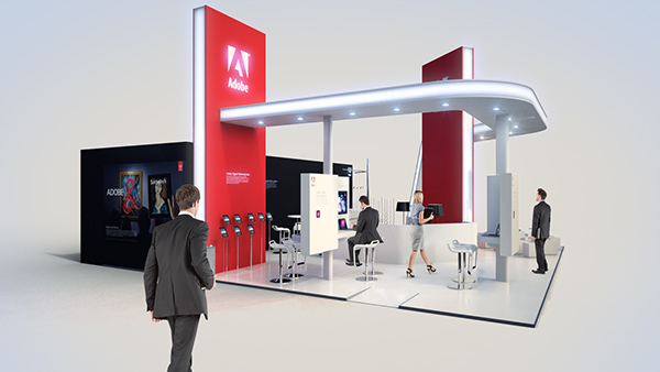 Exhibition Stand Design Tool : Adobe systems exhibition booth on behance