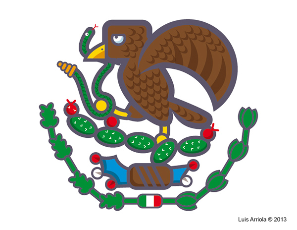 Easy Mexican Flag Eagle Drawing Mexican Flag Eagle