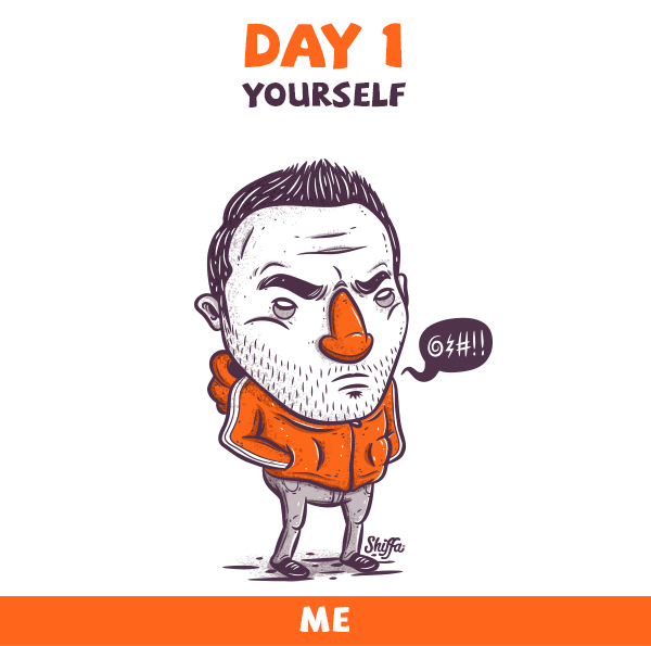 30 Day Drawing Challenge On Behance