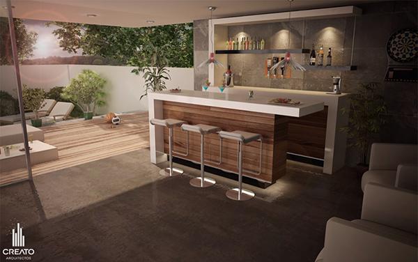 Toscana house on behance - Barra de bar en casa ...