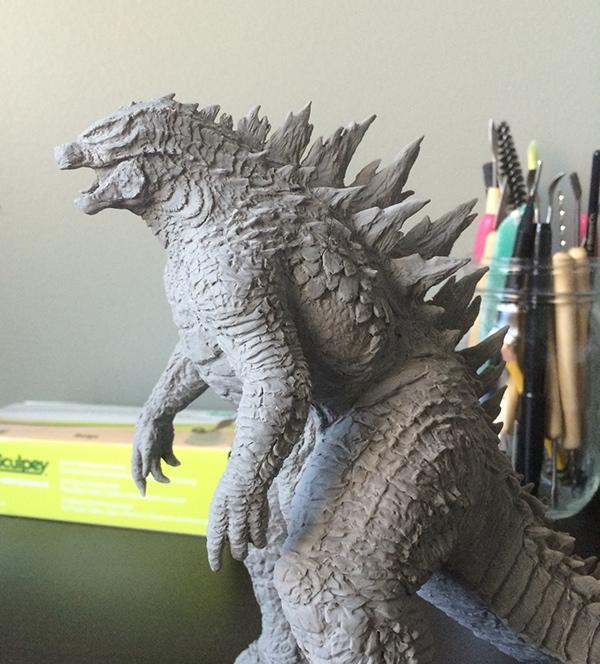 Godzilla 2014 Sculpt On Behance