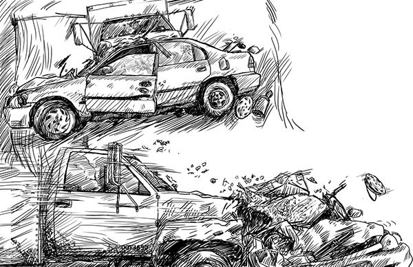 crash lesbian gay LGBT murder blood death cathedral comic  graphic novel Sequential Art