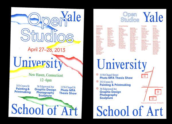 Open Studios yale risography Riso Poster Design