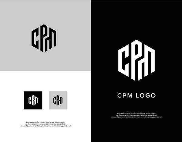 CPM Letter mark logo   Branding   Logo design