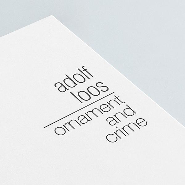 book book cover Adolf Loos cover design