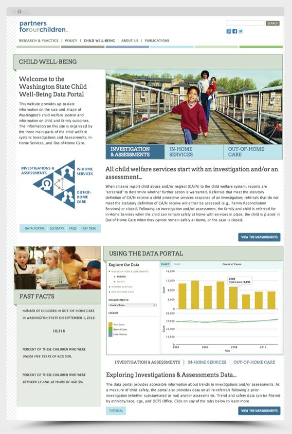 Partners for Our Children Website on RISD Portfolios