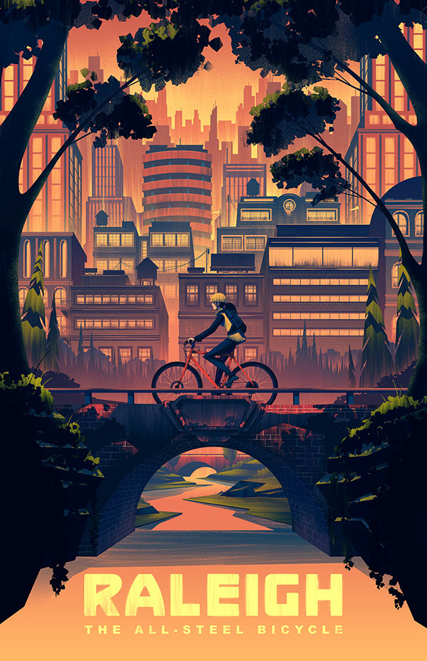 2014 Raleigh Heritage Poster by Brian Miller