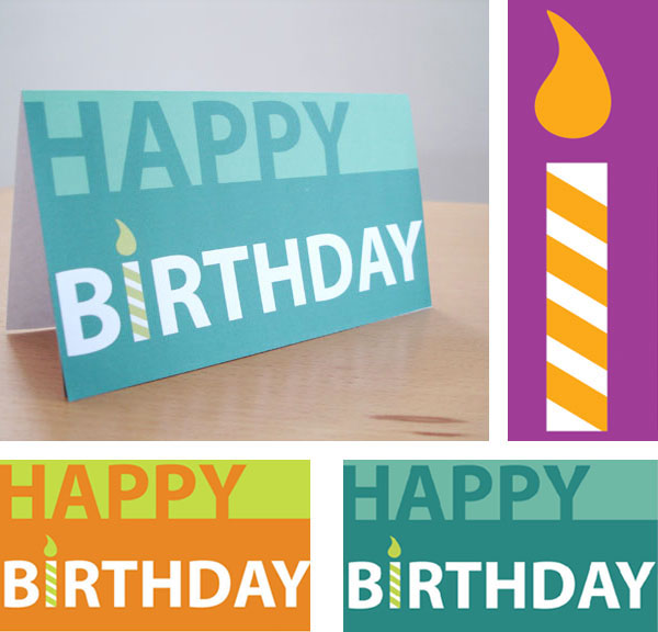 有設計感的24款生日卡片設計欣賞