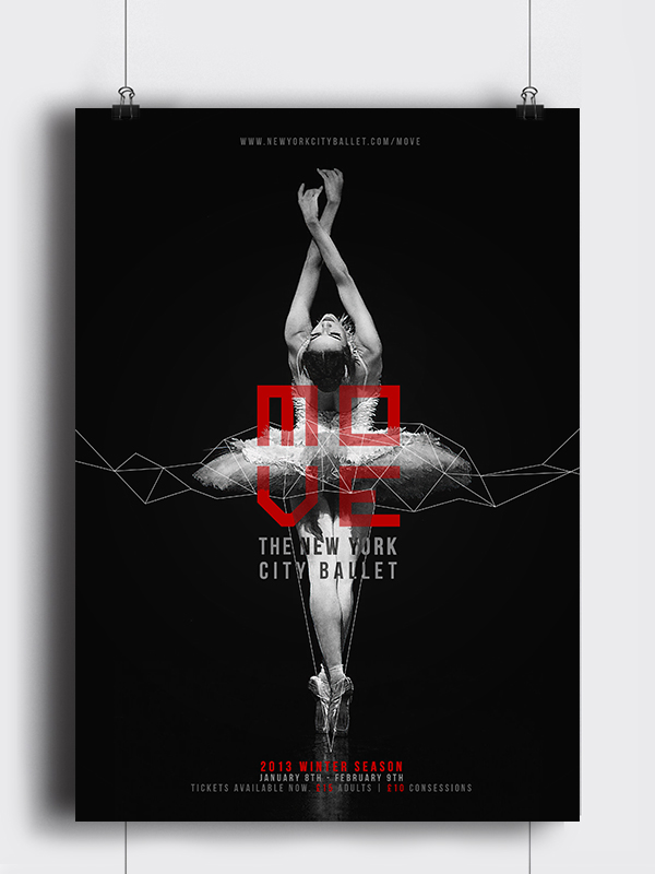 MOVE: Poster For The New York City Ballet. On Behance