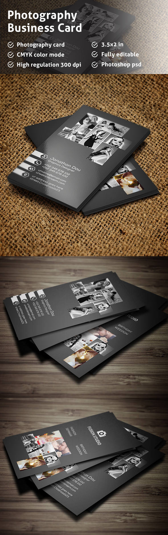 Free Photography Business Card on Behance