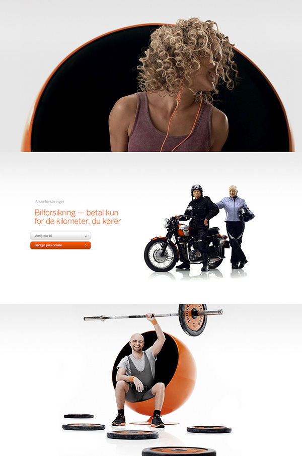 Alka orange Hello Monday interactive design Web site Website HTML