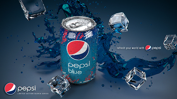 3d pepsi blue can