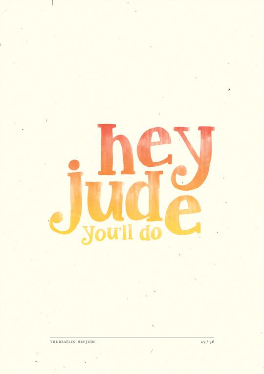 Hey Jude On Typography Served