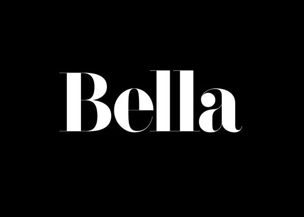 F bella font family rick banks on behance