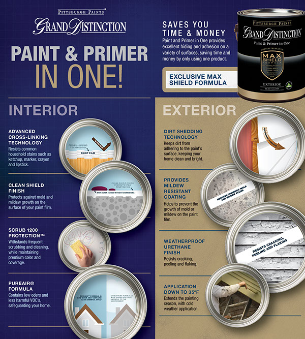 paint primer Pittsburgh brochure in-store