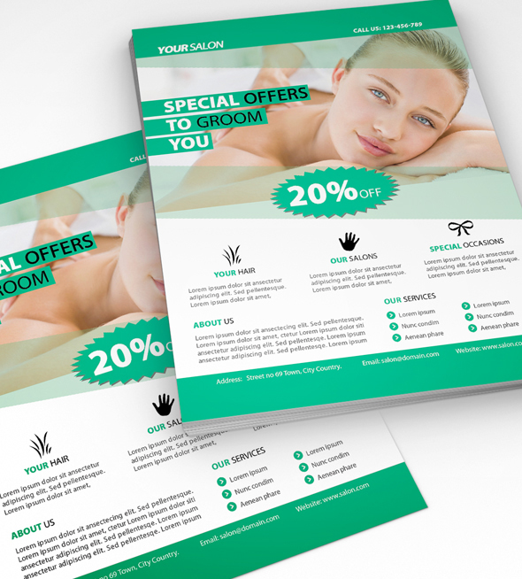 Beauty Salon Flyer On Behance