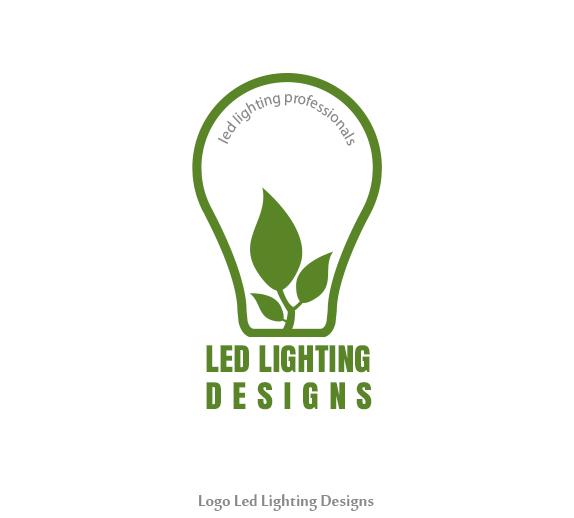 led lighting designs logo on behance