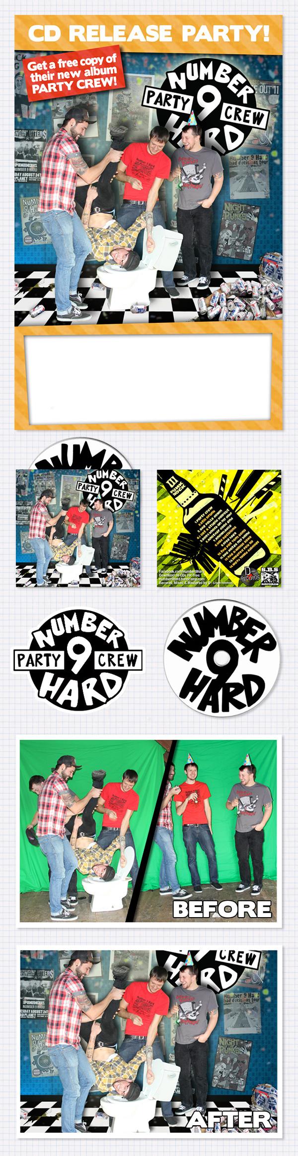 album art CD cover band poster CD design music photoshop