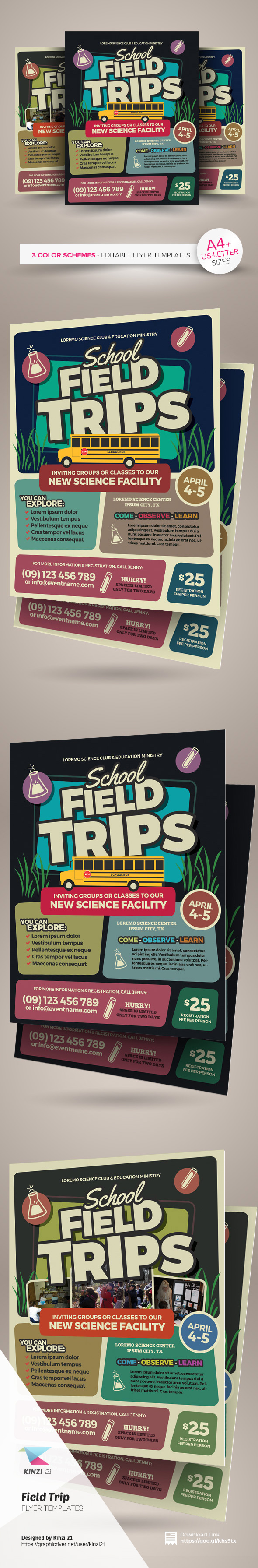 field trip flyer templates on behance field trip flyer templates are fully editable design templates created for on graphic river more info of the templates and how to get the sourcefile