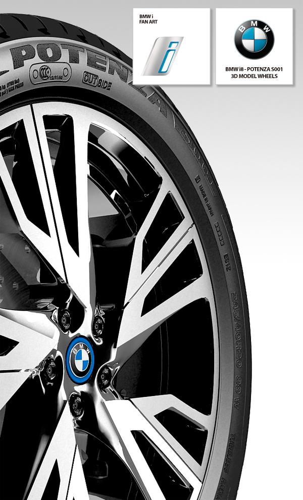 BMW i8 wheel Tire potenza S001 future energy electric drive car sport progressive BMWi Bridgestone